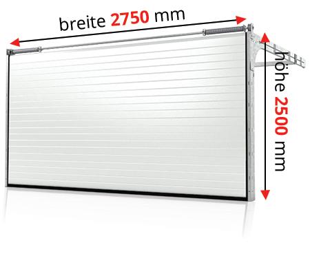 sektionaltor tor garage carport rolltor 2750 x 2500 mm farbe grau ebay. Black Bedroom Furniture Sets. Home Design Ideas