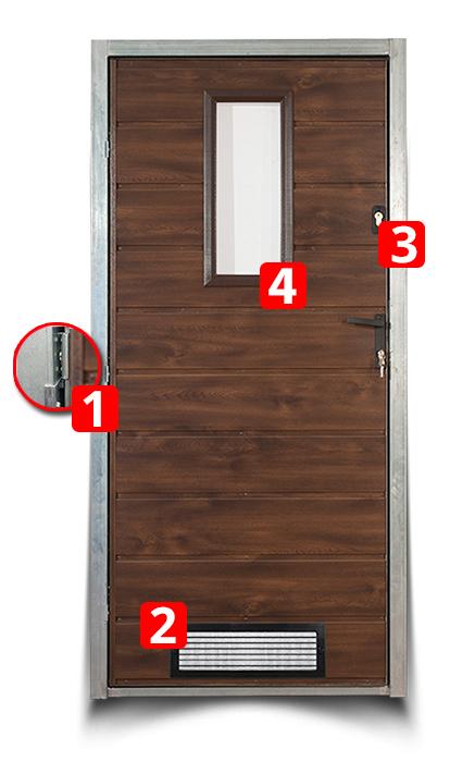 metallt r die t r nach mass jeder grosse ebay. Black Bedroom Furniture Sets. Home Design Ideas