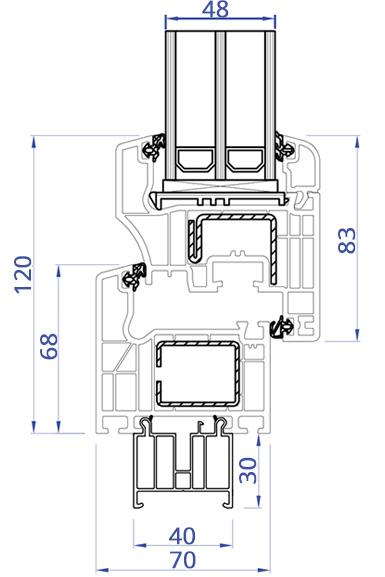 balkon kunststoff fenster sch co anthrazit verschiedene massen super preis ebay. Black Bedroom Furniture Sets. Home Design Ideas