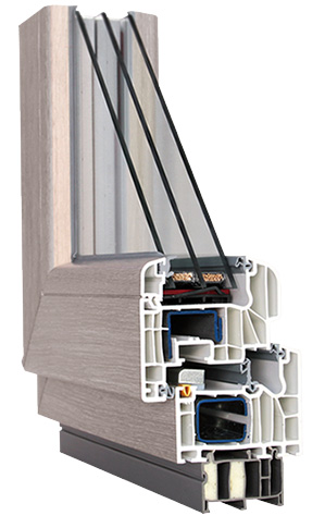 Balkon kunststoff fenster sch co anthrazit verschiedene massen super preis ebay - Fenster beschlagen zwischen den scheiben ...