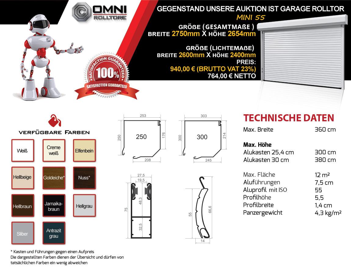 rolltor garagentor rolltore garagentore 2600 x 2400 mit. Black Bedroom Furniture Sets. Home Design Ideas