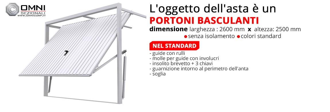 Portone basculanti porta garage cancelli nuovo 2600 x for Portone garage usato